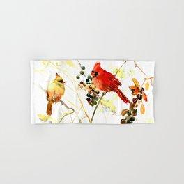 Cardinal Birds and Berries Hand & Bath Towel