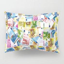 Colorful Euros Pattern - Money - LOA - Abundance - Cash Pillow Sham
