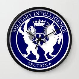 MI6 Logo Button Wall Clock