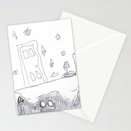 Monster Under the Bed Stationery Cards