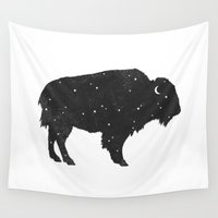 buffalo Wall Tapestries featuring Mystic Buffalo  by Terry Fan