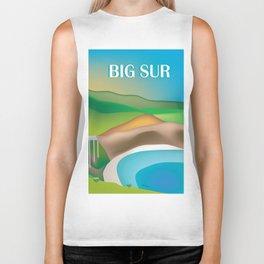 Big Sur, California - Skyline Illustration by Loose Petals Biker Tank
