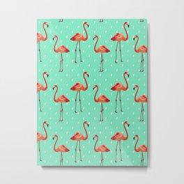 Flamingos party Metal Print