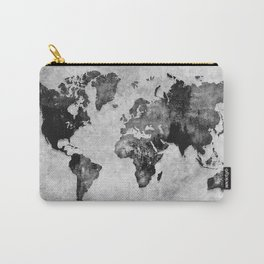 map black and white #map #world Carry-All Pouch