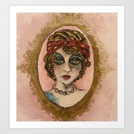 Miss Anchor Art Print