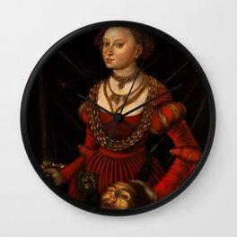 "Lucas Cranach the Elder ""Judith with the Head of Holofernes"" 1. Wall Clock"