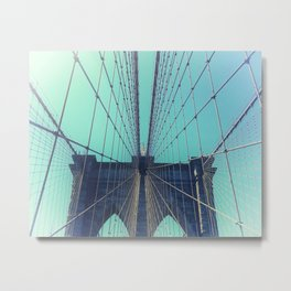 BROOKLYN BRIDGE - VINTAGE - FADED Metal Print