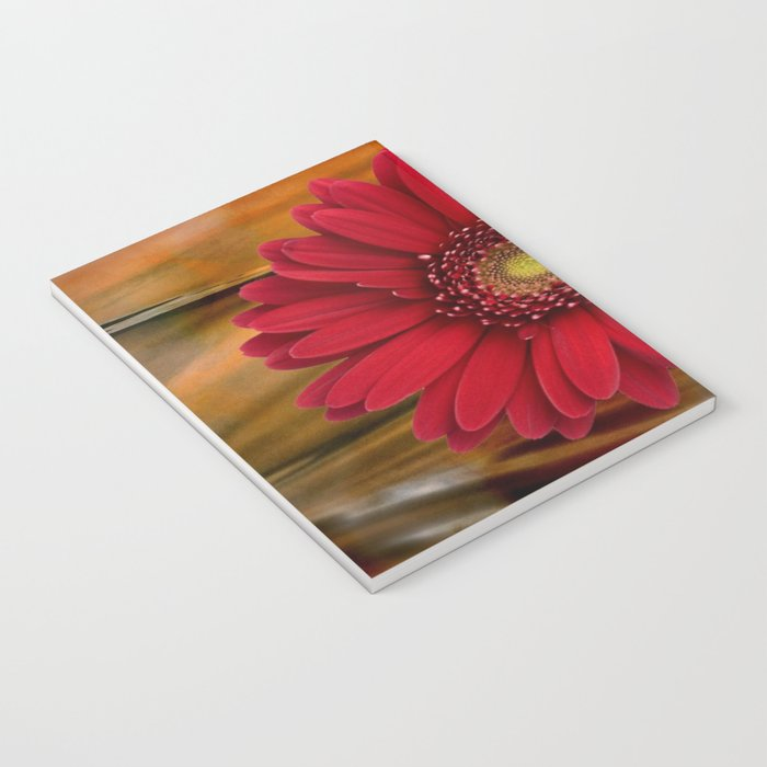 Red Daisy Abstract Notebook