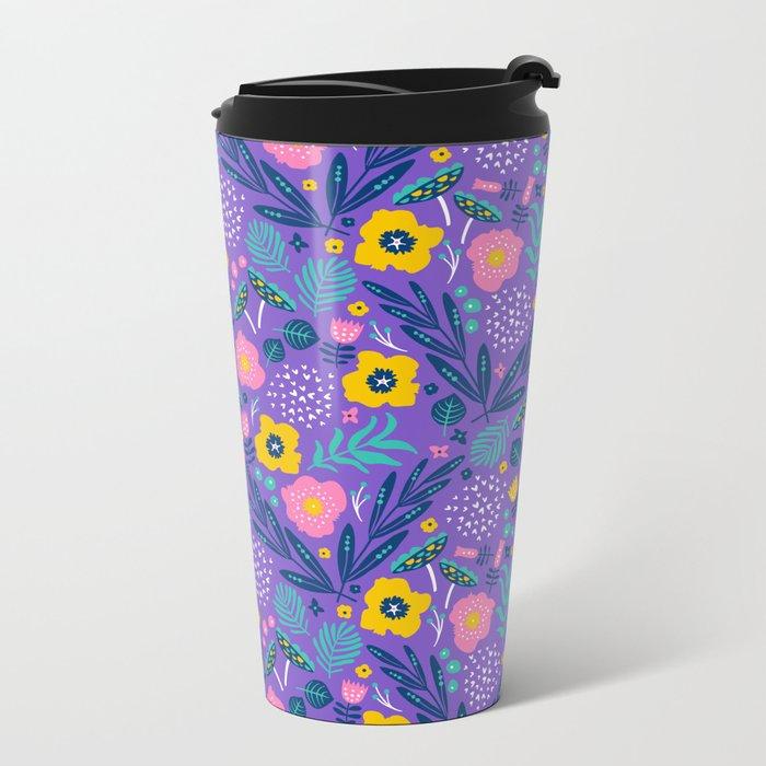 Flora Delight Metal Travel Mug