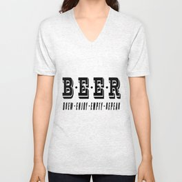 b.e.e.r   - I love beer Unisex V-Neck