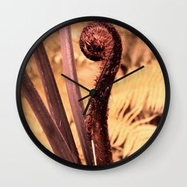 Exotical Fern Wall Clock