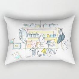 cozy kitchen in Berlin Rectangular Pillow