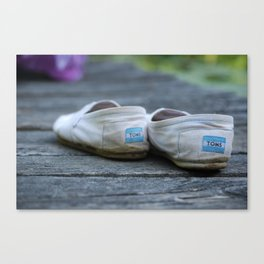 God Save My Shoes Canvas Print