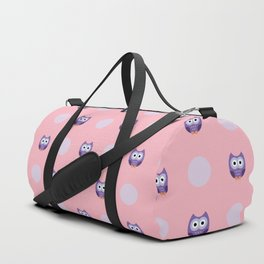 Adorable Purple Owls Duffle Bag