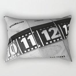 World Clock Berlin BW Rectangular Pillow