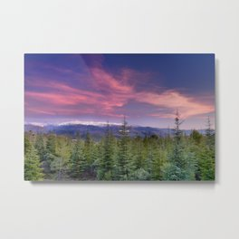 Spring sunset at the mountains Metal Print