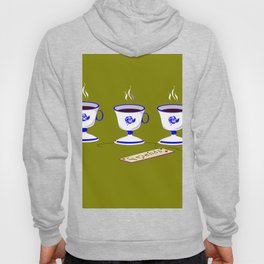 Coffee with Friends in Vintage Porcelain Cups Hoody