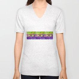 Grape strip Unisex V-Neck