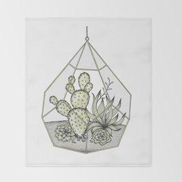 Succulent Terrarium Throw Blanket
