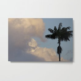 Palm Tree Contrast Metal Print