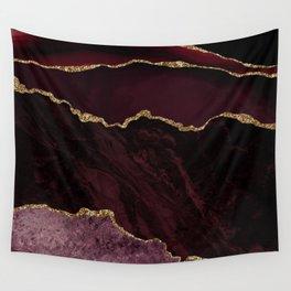 Deep Burgundy Geode & Gold Glitter // 01 Wall Tapestry