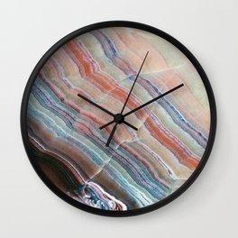 Pastel Onyx Marble Wall Clock