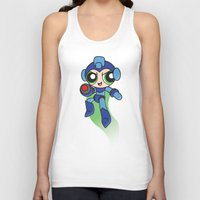 mega man Tank Tops featuring Mega Puff Man by Unihorse