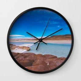 Piedras Rojas (Red Rocks), San Pedro de Atacama Desert, Chile 3 Wall Clock