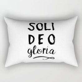 Soli Deo Gloria Rectangular Pillow