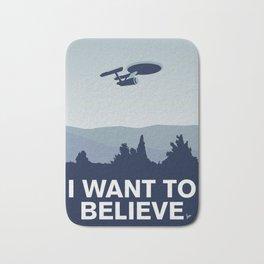 My I want to believe minimal poster-Enterprice Bath Mat