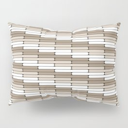 Staggered Oblong Rounded Lines Pattern Pantone Hazelnut Pillow Sham