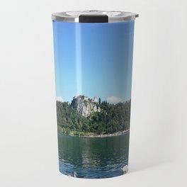 Swans in Bled Travel Mug
