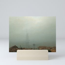 Caspar David Friedrich - Sea beach in the fog Mini Art Print