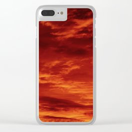 Inferno Skies Clear iPhone Case