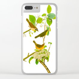Yellow-breasted Warbler Bird Clear iPhone Case