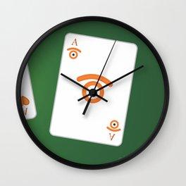 poker of glances Wall Clock