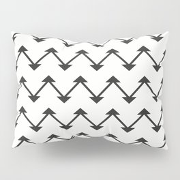 Jute in White and Black Pillow Sham