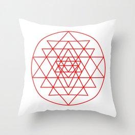 Shri Yantra symbol Throw Pillow