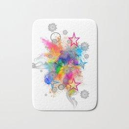 Color blobs by Nico Bielow Bath Mat