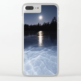 Fractured in Moonlight Clear iPhone Case