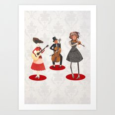 Music lovers Art Print