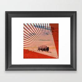 American Serengeti Framed Art Print