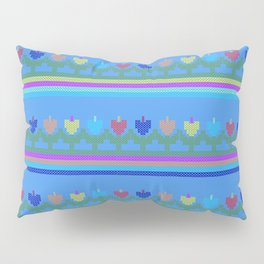 Childish Embroidered Flowers Pillow Sham