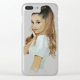 ariana desain 006 Clear iPhone Case