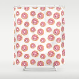 Watercolor Donut Shower Curtain