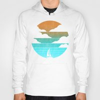 sail Hoodies featuring Go West (sail away in my boat) by Picomodi