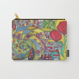 abstract red flower Carry-All Pouch