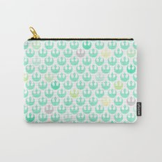 Rebel Alliance on White in Green and Yellow Pastels Carry-All Pouch