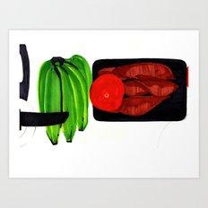 Bananas and Yam Art Print