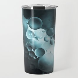 Oil and Water Abstract Background Travel Mug
